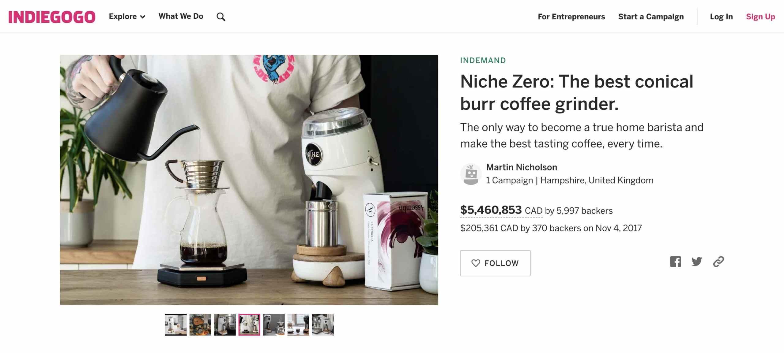 Buphallo coffee filter
