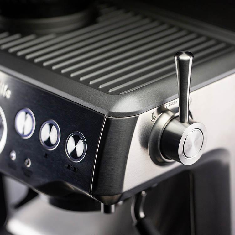 breville steaming lever